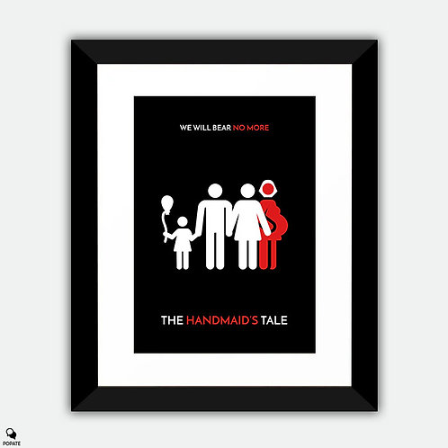 The Handmaid's Tale Minimalist Framed Print - Gilead Family