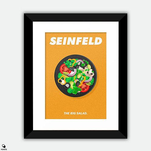 Seinfeld Minimalist Framed Print - Big Salad