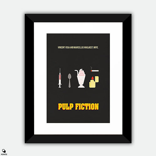 Pulp Fiction Minimalist Framed Print
