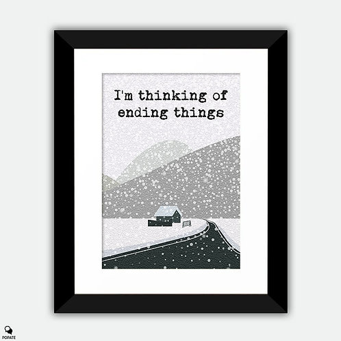 I'm Thinking of Ending Things Minimalist Framed Print