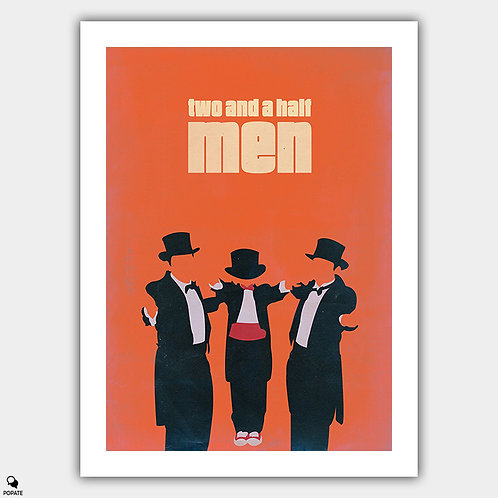 Two And A Half Men Vintage Minimalist Poster