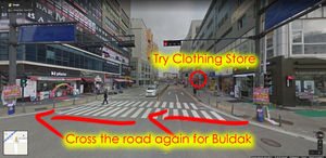 How to go to Buldak Restaurant and Try Clothing Store (iKON Hanbin)