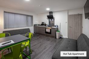 hot tub apartment living room
