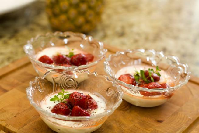 Una merienda fácil de preparar - Fresas con yogurt
