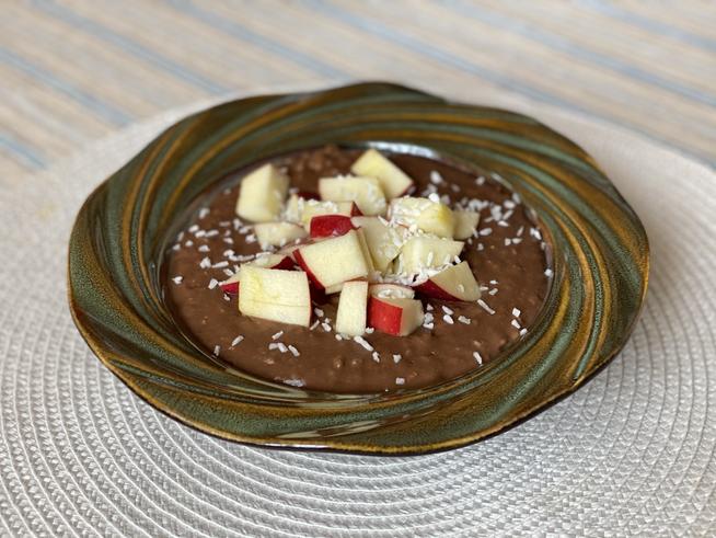 Receta - ¿Cómo prerparar un porridge de Avena Manzana con Coco?