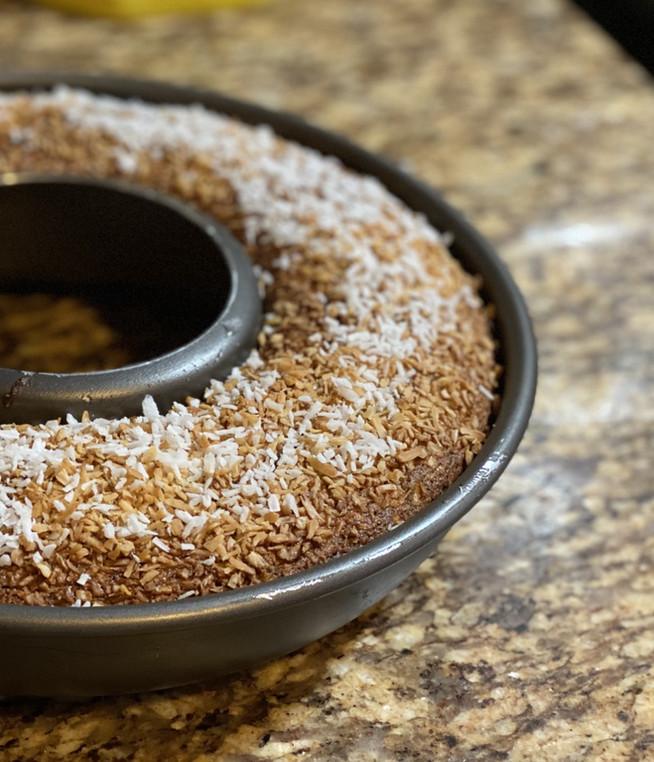 Pastel de Chocolate con coco rayado