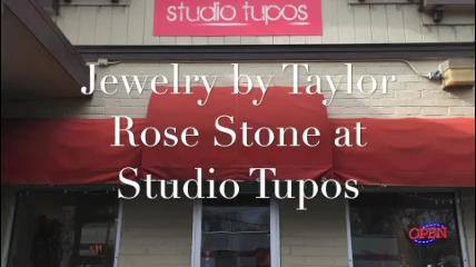Jewelry by Taylor Rose Stone at Studio Tupos