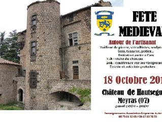 La Médiévale du 18 octobre 2014 au Château de Hautségur