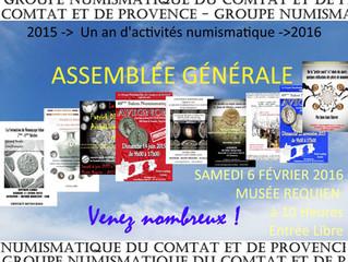 Assemblée Générale du Groupe Numismatique d'Avignon