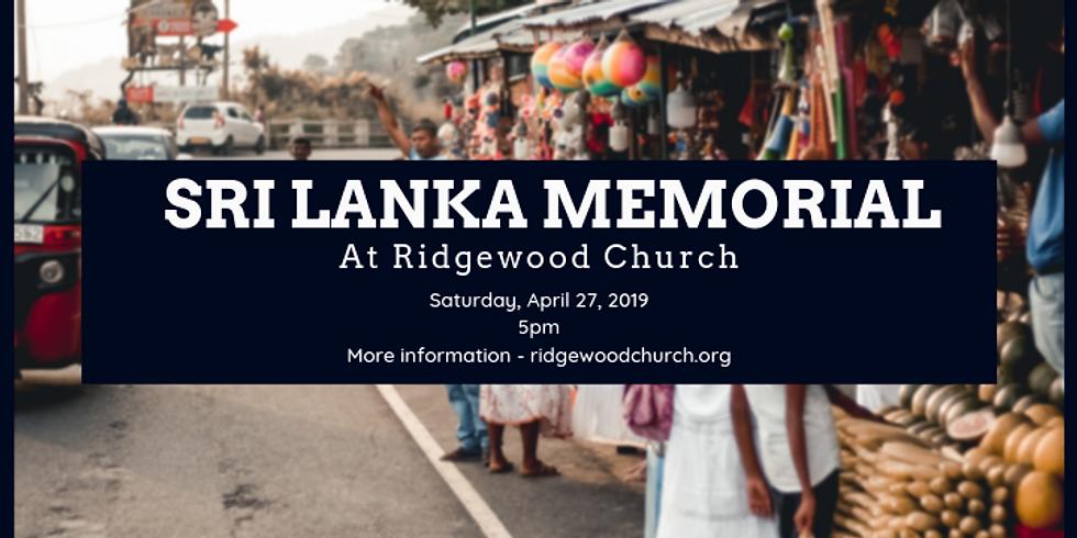 Sri Lanka Memorial Service
