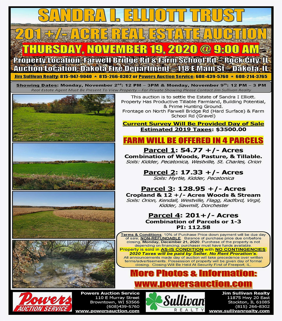 Sandra Elliot Trust Real Estate Auction