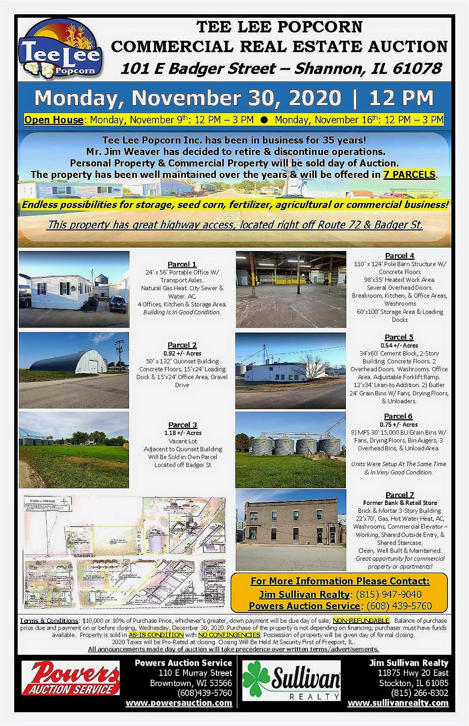 Tee Lee Popcorn Real Estate Auction