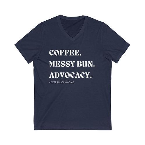 Coffee & Advocacy V-Neck