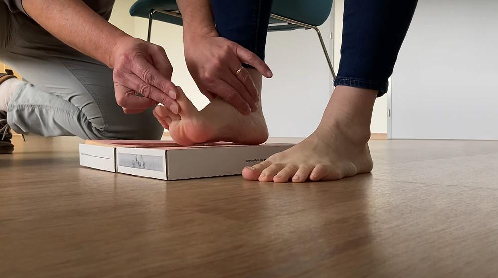foot impression box