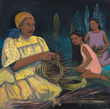 Basket Weaver and Her Daughters