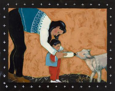 Penco (orphan lamb)