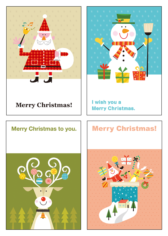 クリスマスデザインカード
