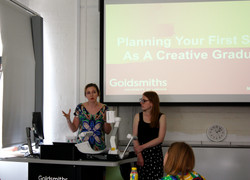 Jacqui and Beki at Make, Do & Begin Workshop