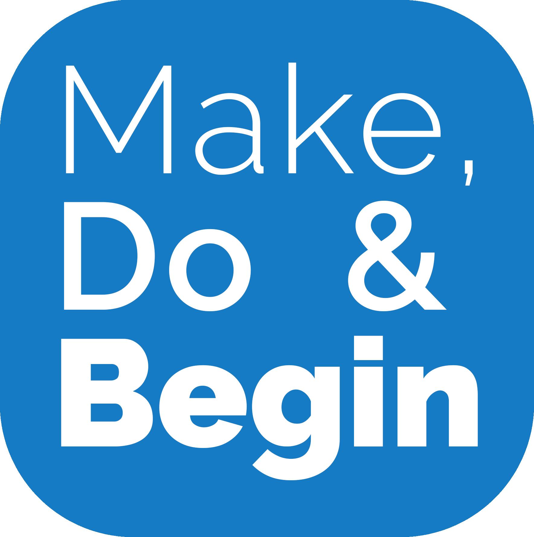 Make Do Begin logo