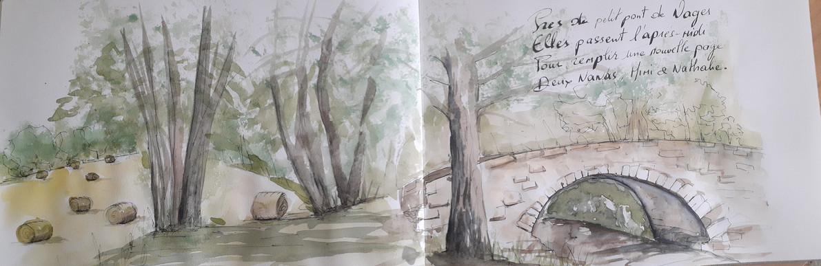 le petit pont de Nages par Mireille.jpg