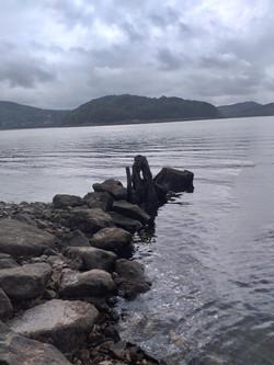 Le lac du Laouzas l'hiver