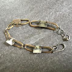 Squares and Stirrups Bracelet