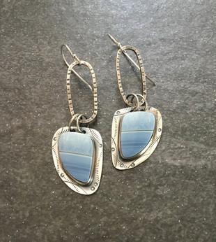 Blue Opan Earrings