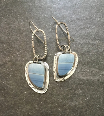 Blue Opan Earrings