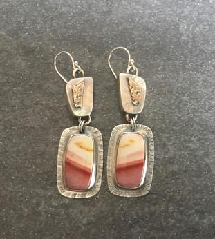 Mooka Jasper Box Earrings
