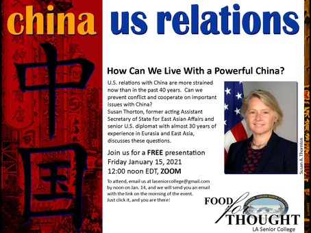 The Future of U.S.-China Relations: How Can We Live With a Powerful China?