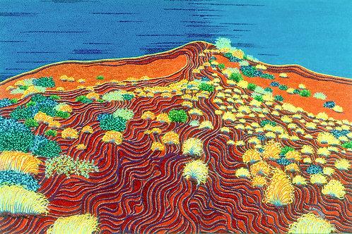 Desert Heat - Reproduction Giclee Art Print On Canvas