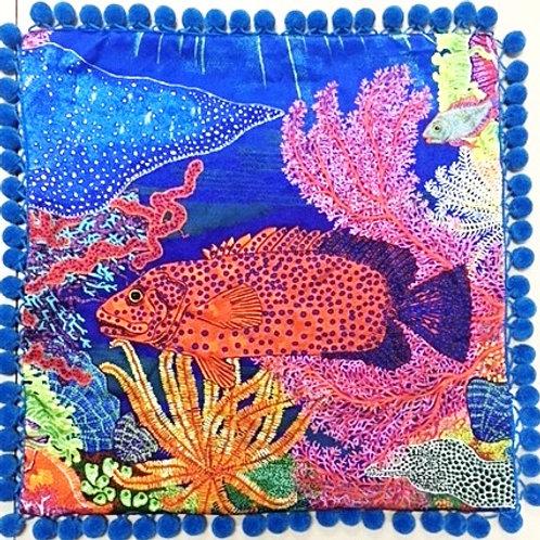 Cushion Red Rock Cod Fish - No Crystals
