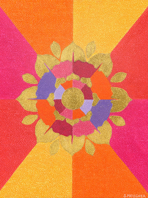 Flower Of Enlightenment - Reproduction Giclee Art Print On Canvas