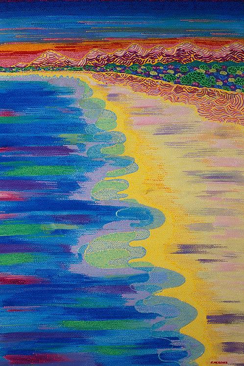 Sunshine Beach - Reproduction Giclee Art Print On Canvas