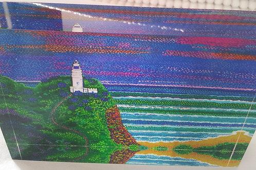 Art Block - Cape Bryon at Dusk (Acrylic)