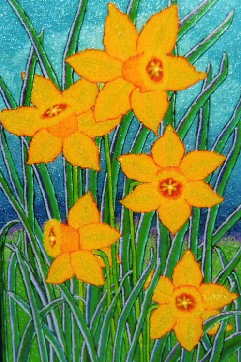 Yellow Daffodils - Oil Artwork