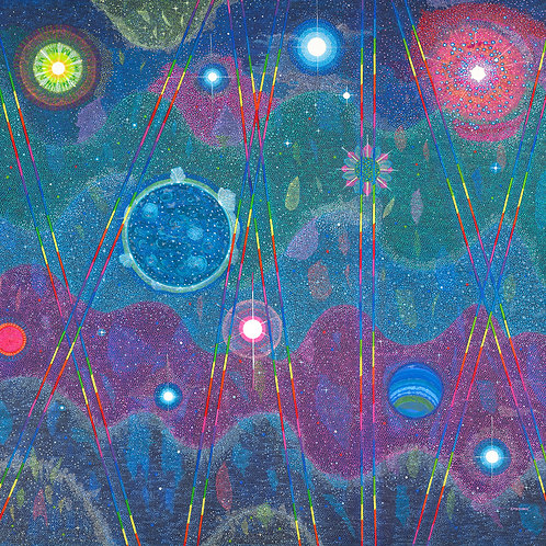 Universal Cosmic Light Dream - Reproduction Giclee Art Print On Canvas