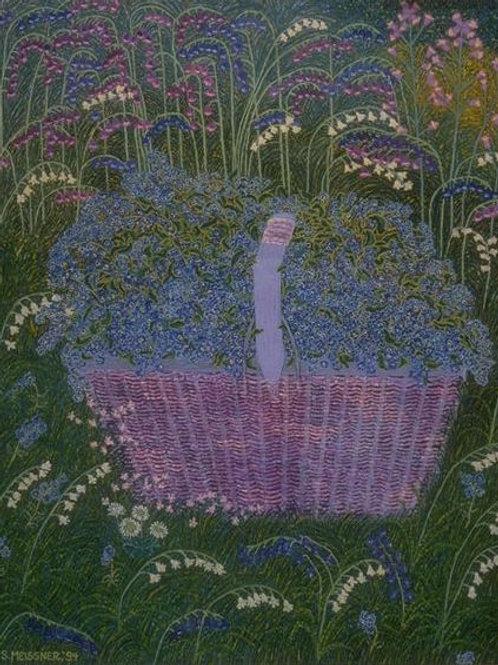 Basket In Blue - Oil Artwork