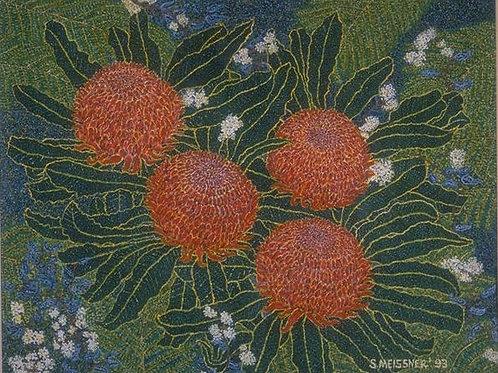 Golden Waratahs - Oil Artwork