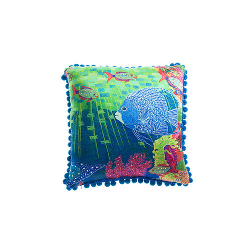 Cushion Angel Fish and Mantaray - With Swarovski® 100% Branded Crystals
