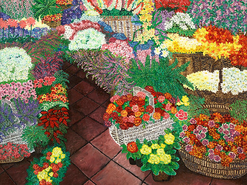 Florist's Delight - Reproduction Giclee Art Print On Canvas