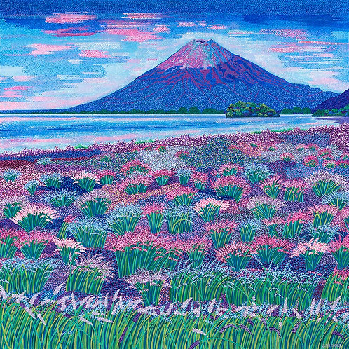 Fujiyama Lavender Blue - Reproduction Giclee Art Print