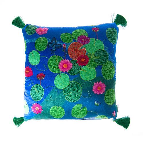 WS Cushion Blue Pond - With Swarovski® 100% Branded Crystals