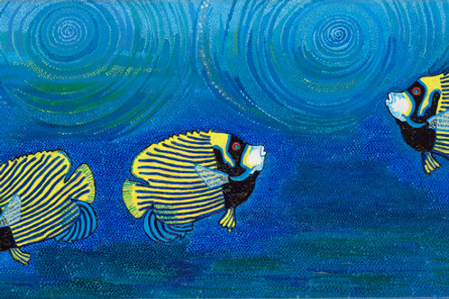 Angel Fish - Oil and Acrylic Artwork
