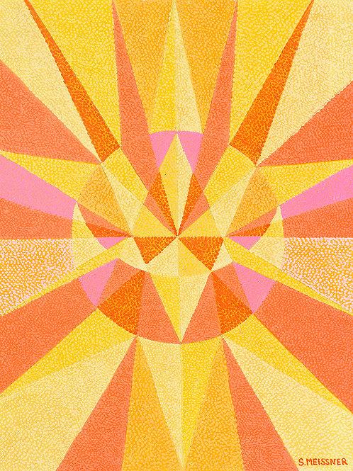 Solar Plexus Geometry Map - Oil Artwork