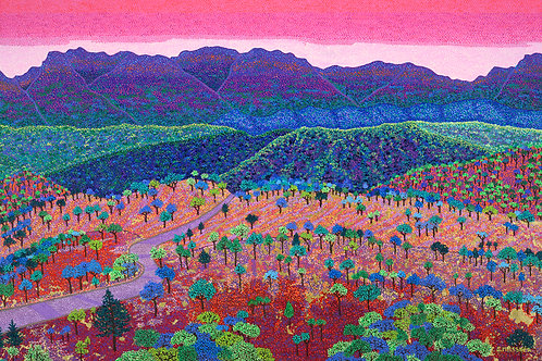 Valley Of Dreams - Reproduction Giclee Art Print On Canvas