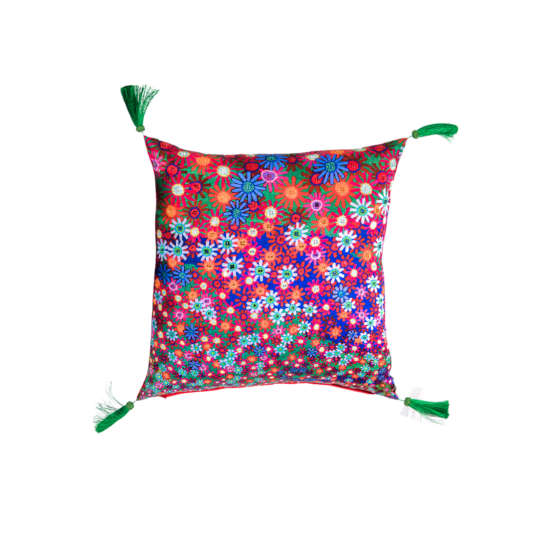 A Field Of Flowers Cushion 65cmx65cm