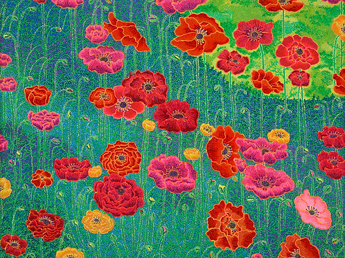 Poppies - Reproduction Giclee Art Print On Canvas