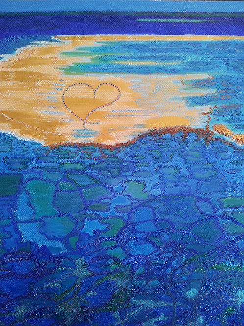 Blue Reef Island - Oil and Shimmer Artwork
