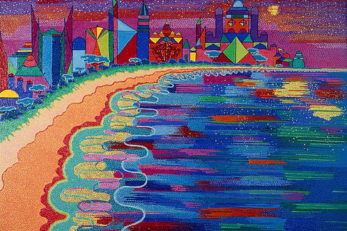 Gold Coast Jewel - Reproduction Giclee Art Print On Canvas